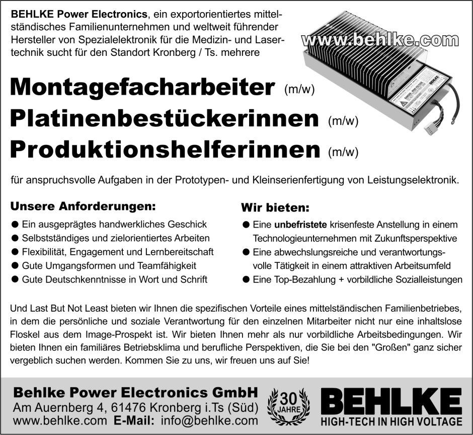 Jobs at BEHLKE